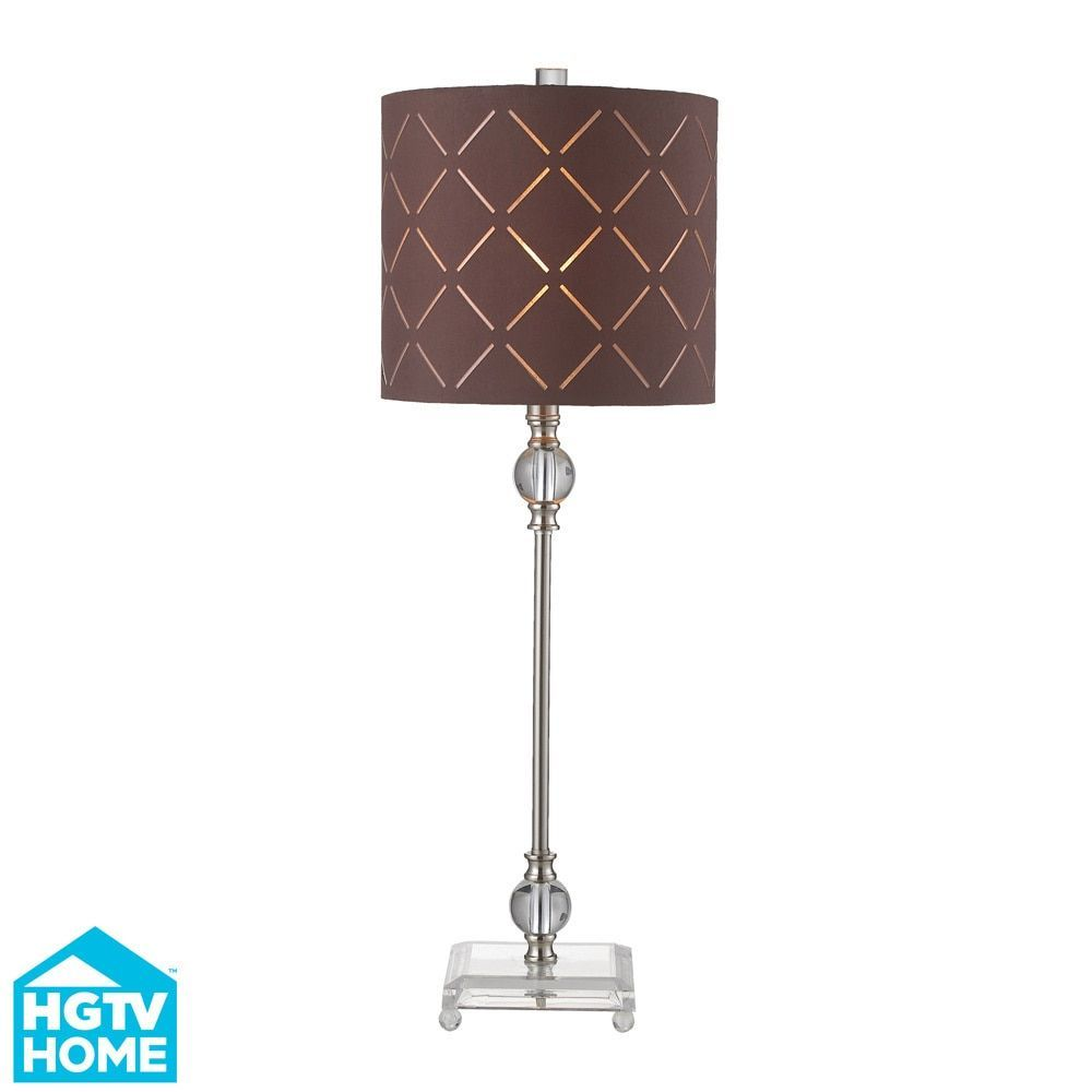 Dimond Lighting Hgtv Home 1-light Brushed Steel/ Brown Fabric Table Lamp