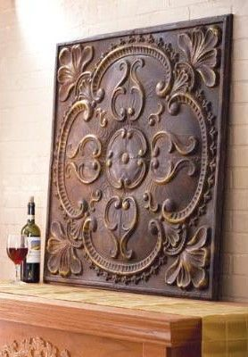 Wall Decor Stamped Corners And Center Medallion