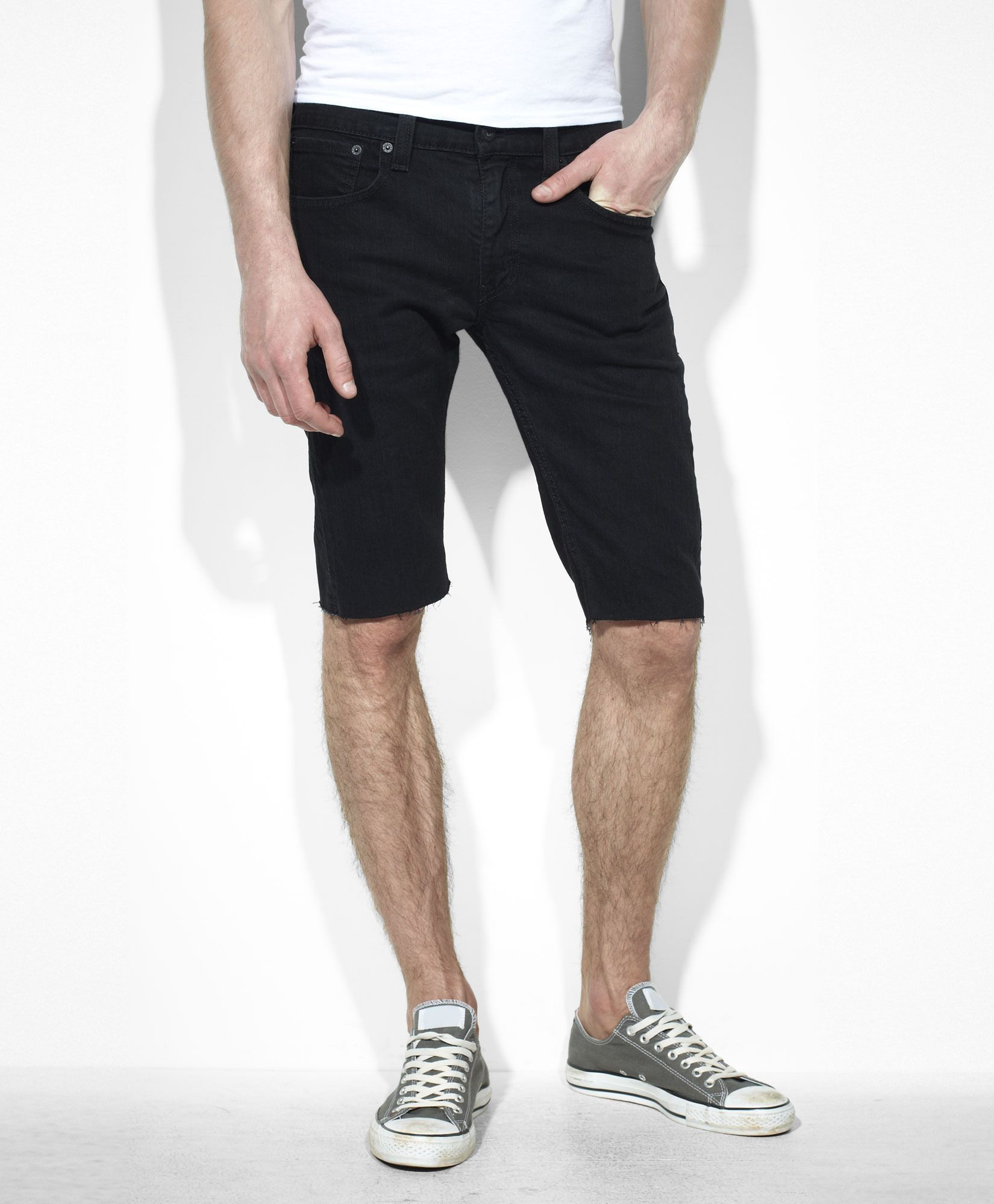 41fd7602b4102 Levi's $55 Skinny Cut-Off Shorts - Black Stretch - Shorts | Men's ...