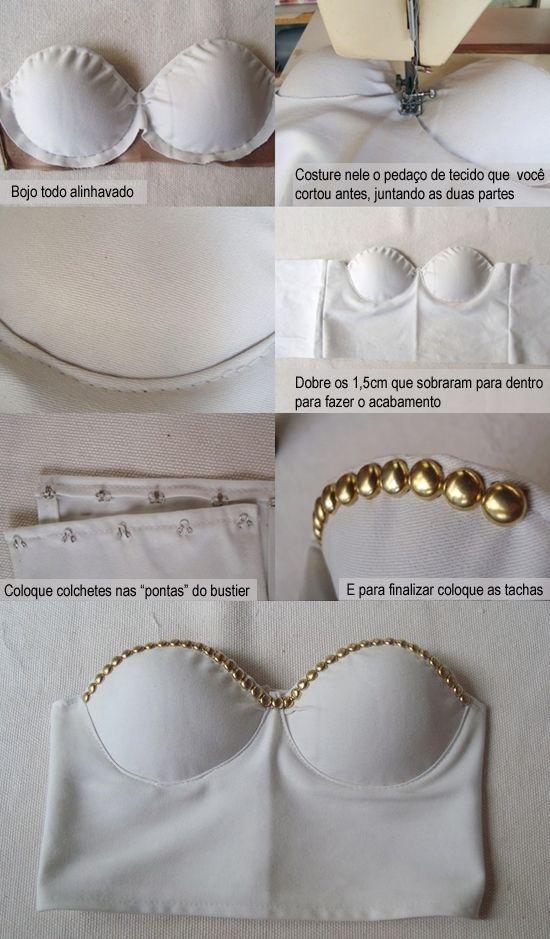 DIY Cropped Bustier ! | Patrones | Pinterest | Sujetador, Costura y ...