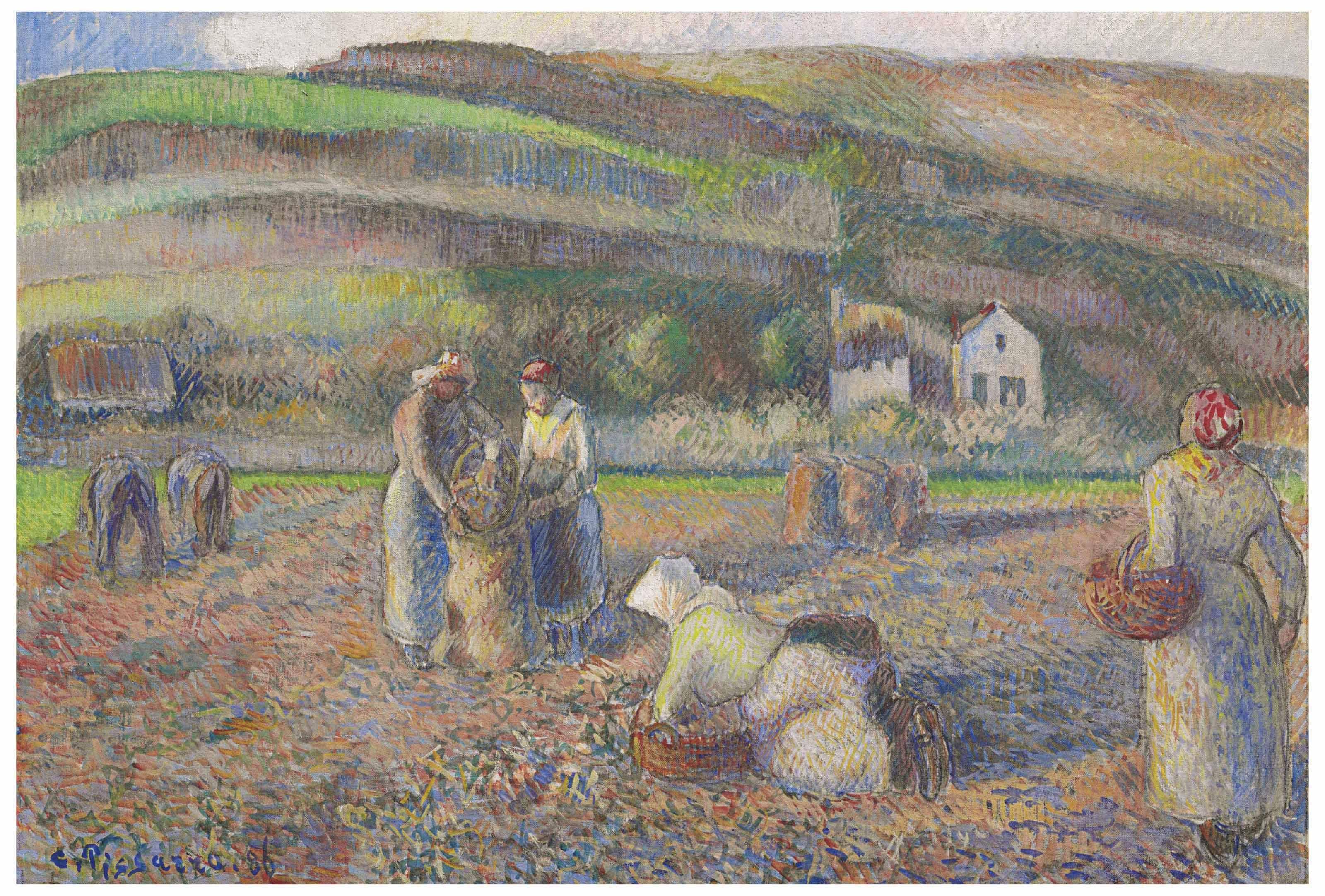 Camille Pissarro 1830 1903 La Récolte Des Pommes De Terre Camille Pissarro Camille Pissarro Paintings Art
