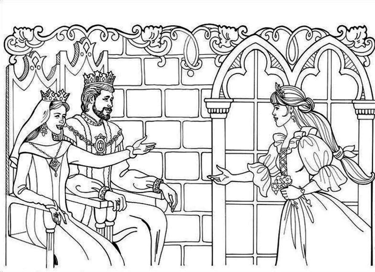 king and queen coloring pages family story between king queen and beautiful