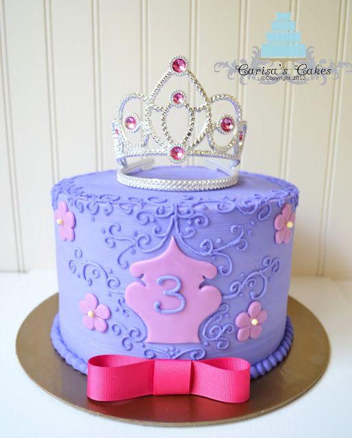 Purple Pink Princess Birthday Cake