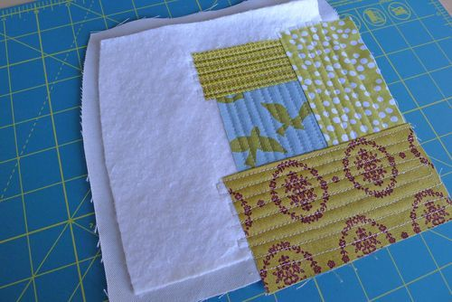 Elizabeth Harman's tutorial for quilting with duck cloth, warm and natural, and QAYG for the weekender. :)