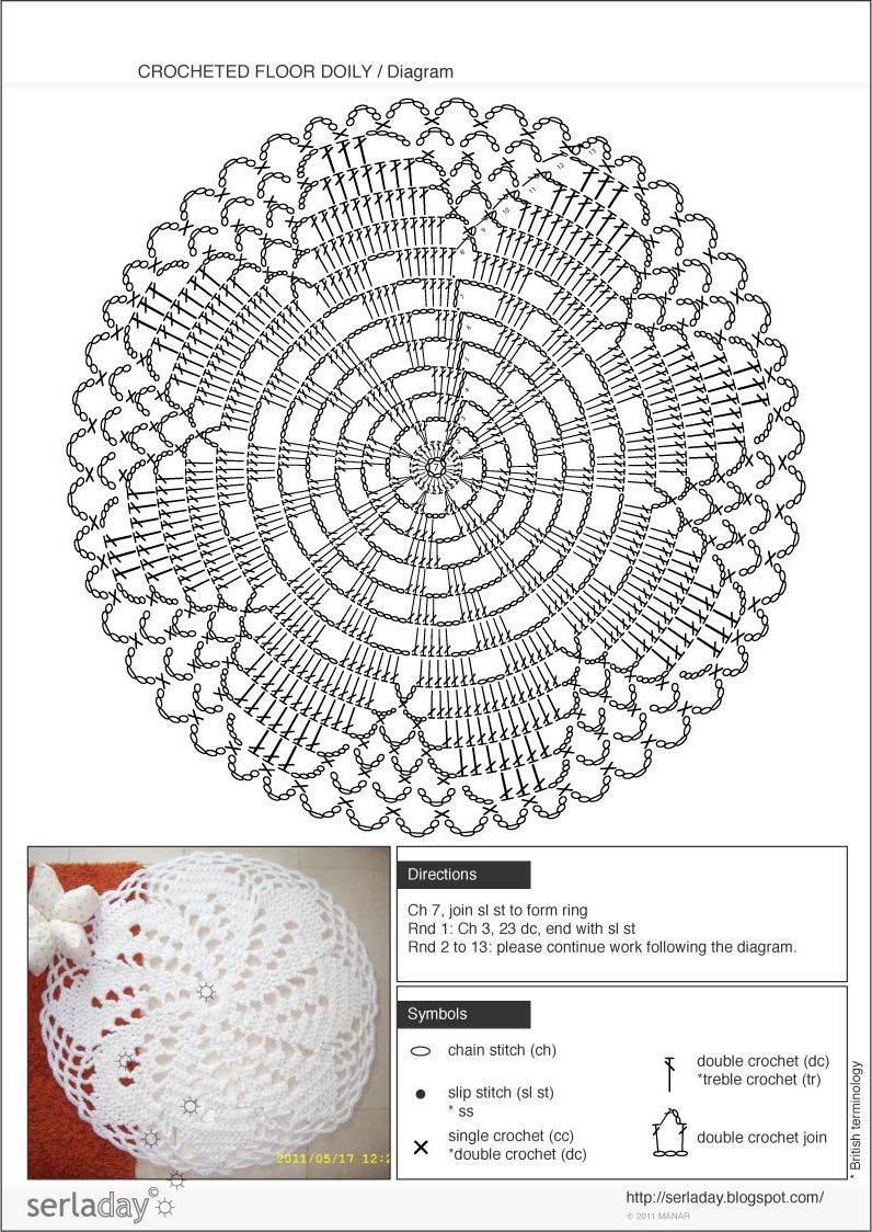 crochet doily patterns with diagram 2006 mazda 6 bose subwoofer wiring rug pattern