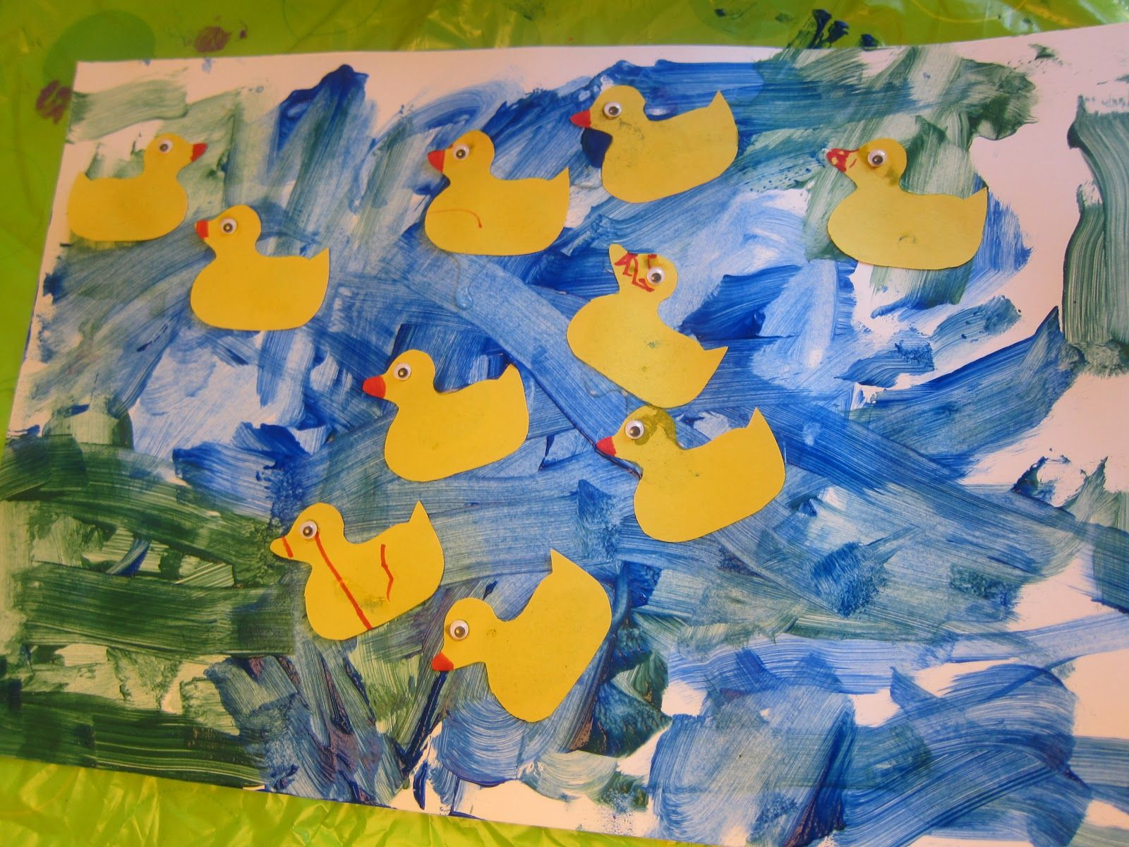10 Little Rubber Ducks by Eric Carle Art Project and Number Matching