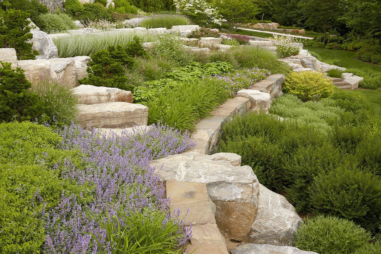 House garden landscape  Edmund Hollander Landscape Architects  On the Bluff  Garden Design