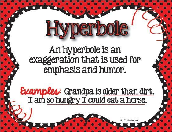 Fun figurative language posters for the classroom these posters feature black red and white polka dots what fun
