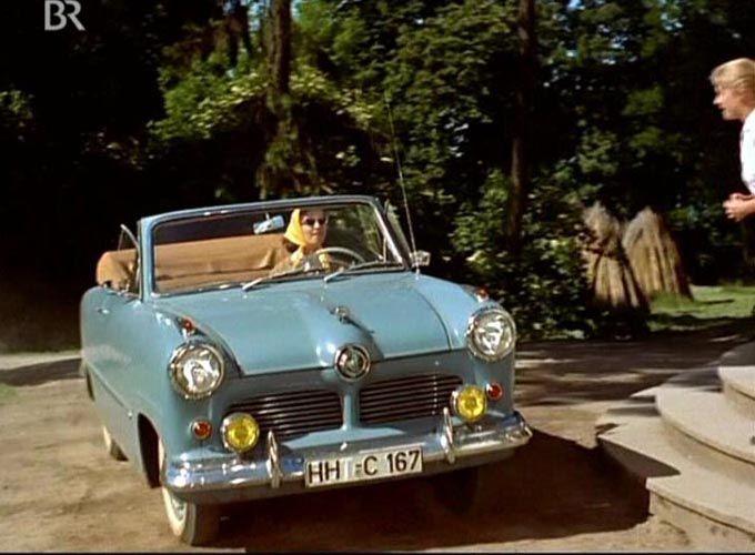 Ford Taunus 12M Cabriolet (Karosserie Deutsch)- Filmszene aus Ferien auf Immenhof