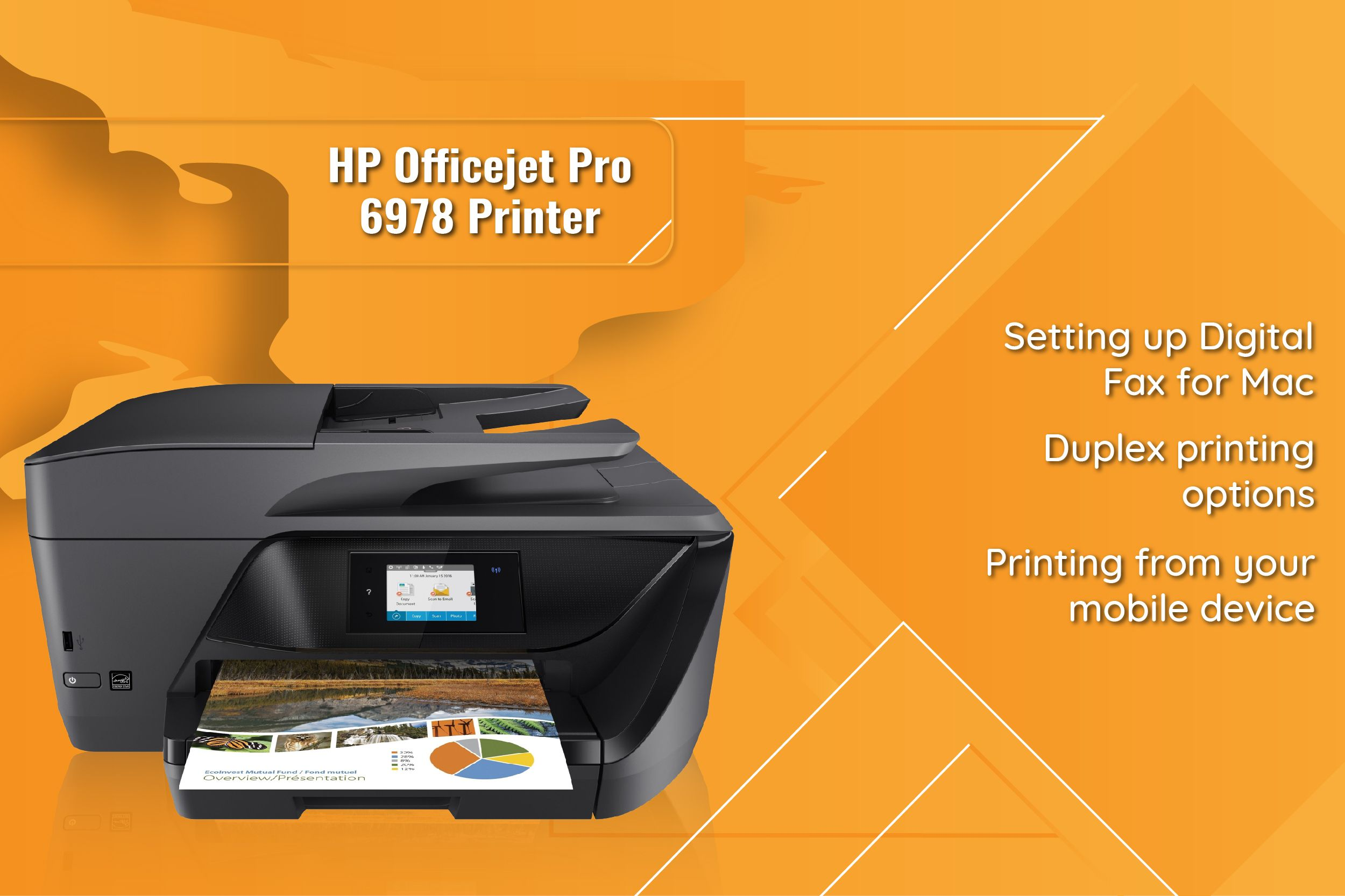 To know how to do duplex printing from HP Officejet Pro 6978