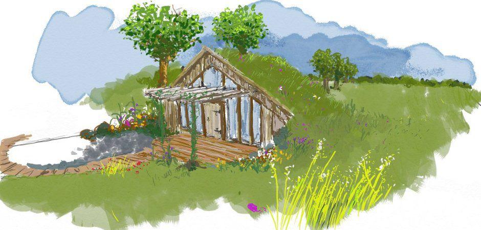 Maisonnettes passives en bois et terre crue chambres d - Chambre d hote couleur bois et spa ...