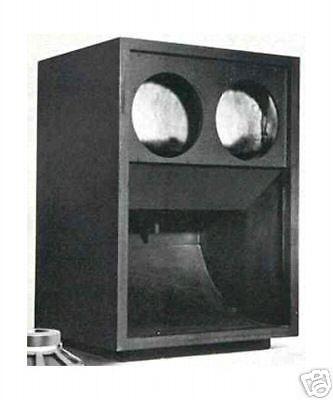 JBL 4520 Rear Loaded Horn Speaker Plans (Scoop) C55 in