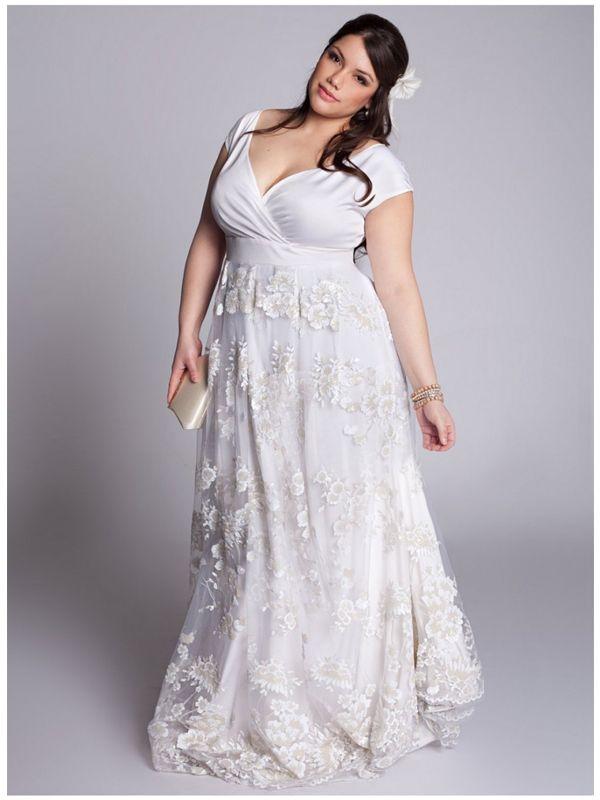 398a5fe5fdc  Fashion Friday  Plus Size Wedding Dress of the Week by IGIGI via Pretty  Pear Bride