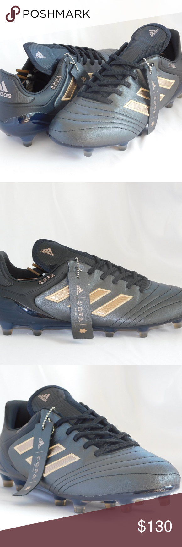 c3b356340 adidas Copa 17.1 FG Black Leather Soccer Cleats 100% Authentic Brand: Adidas  Model: