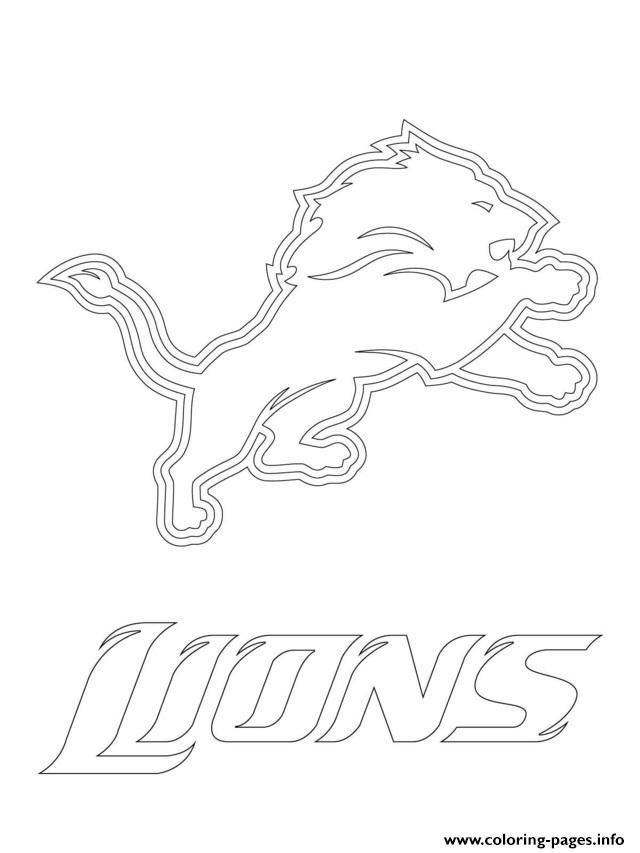 Print detroit lions logo football sport coloring pages https://www ...