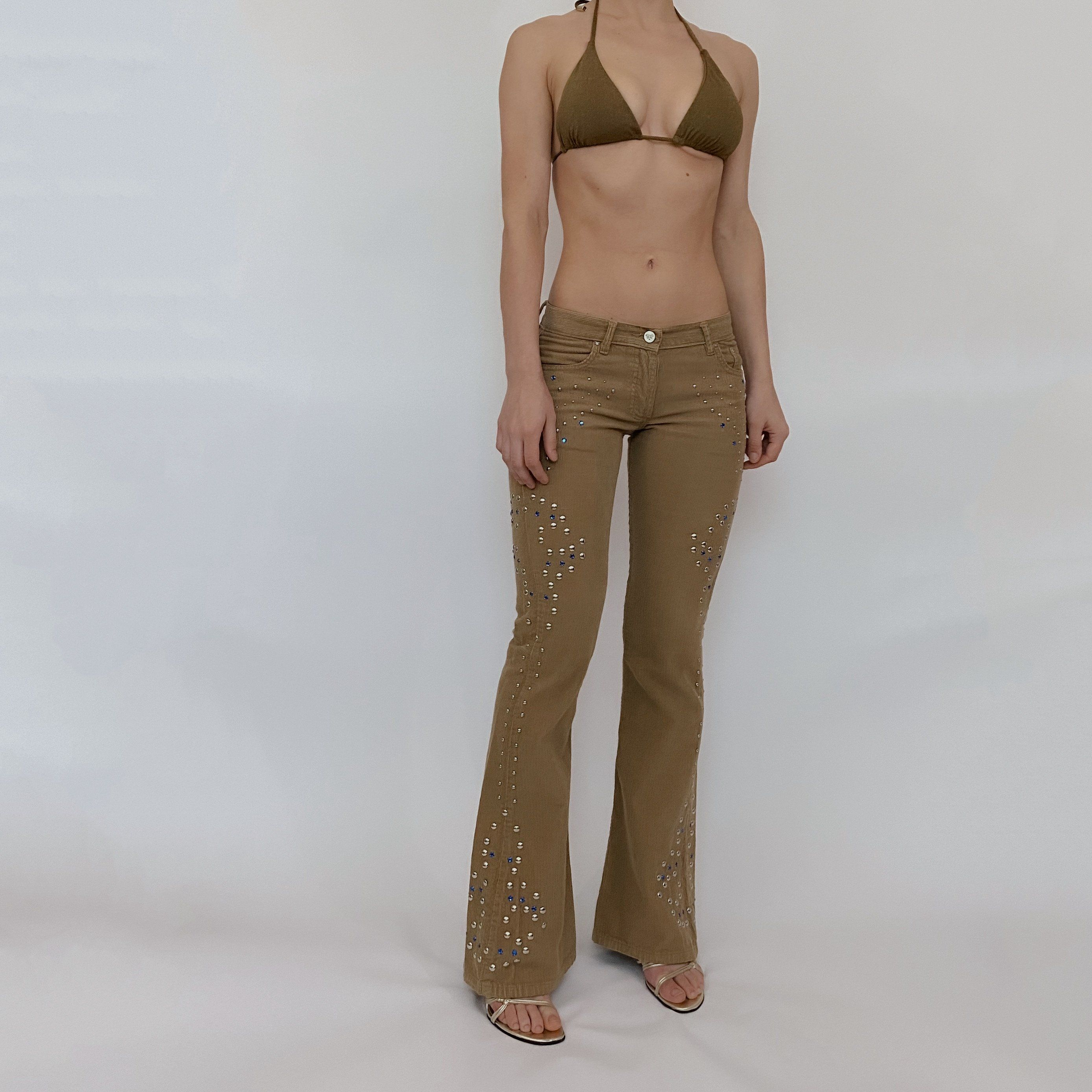 Y2k Studded Corduroy Pants Size 0 In 2021 Fashion Inspo Outfits 2000s Fashion Outfits Low Rise Jeans Outfit