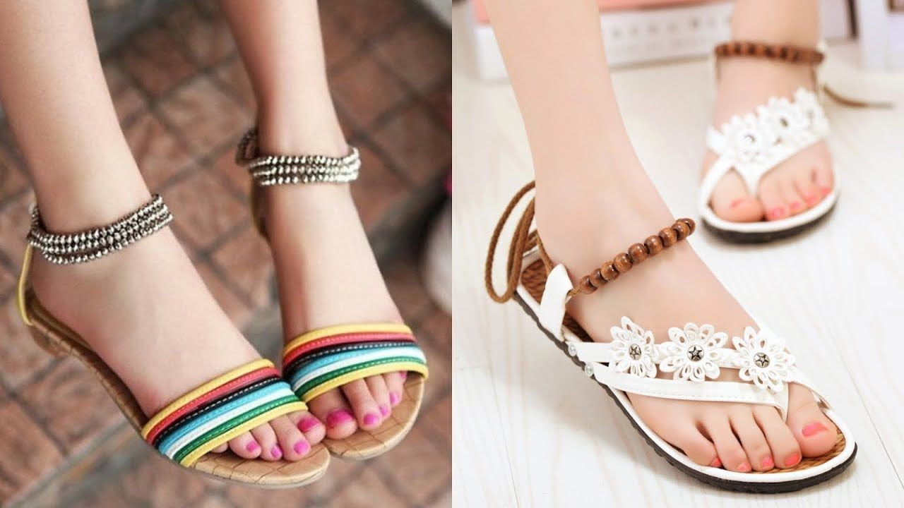 050c2a90bbd Latest Sandals Design 2019 ll Stylish Shoes for Girls | Shoes ...