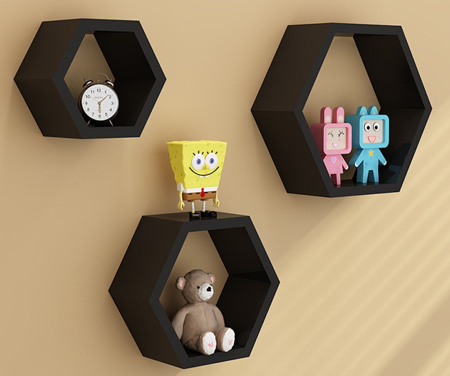 Amazon.com - Zjchao Home DIY Decorative Wall Floating Honeycomb ...