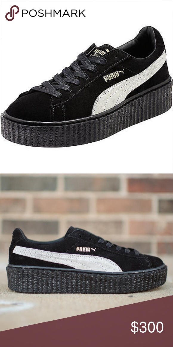 Rihanna fenty x puma creepers black while new 7.5 Limited edition brand new  Rihanna February creepers black and white size 7.5 comes with dust bag 911302943