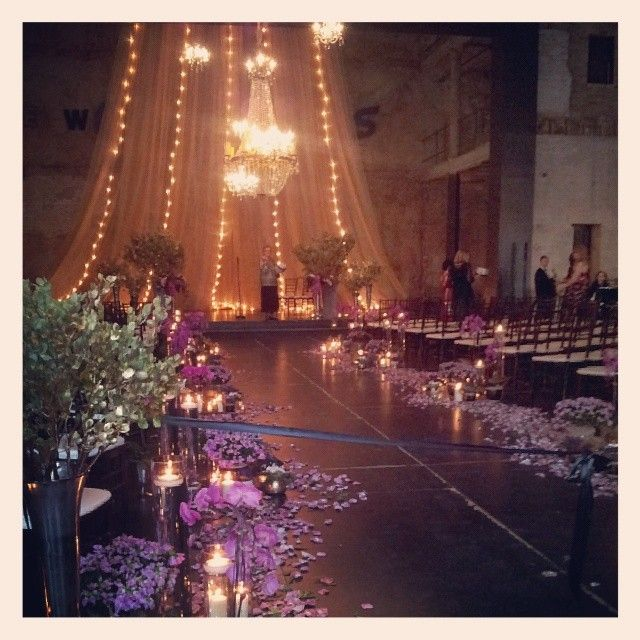 Beautiful Indoor Wedding Ceremony: A Botanical Wedding Ceremony In The North Loop / Warehouse