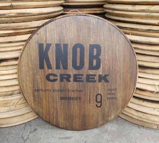 knob creek bourbon barrel head whiskey barrel head bourbon