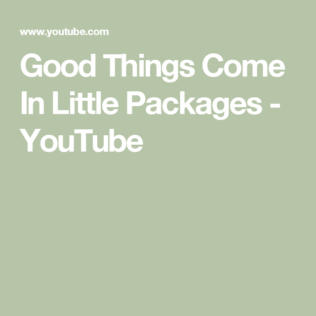 Good Things Come In Little Packages Youtube Holiday Concert