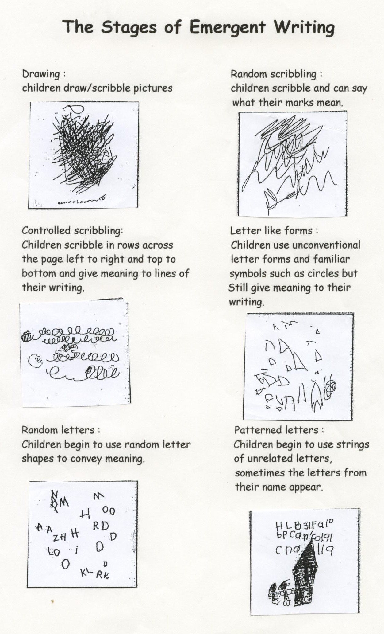 emergent writing activities for preschoolers