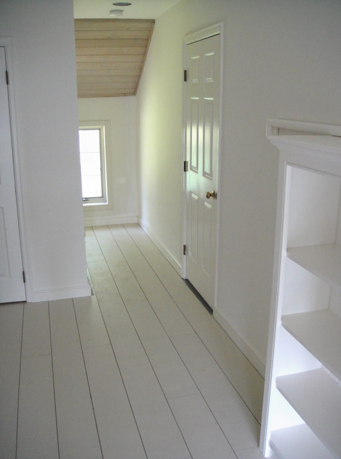Steal This Look White Painted Floors From Frugal Farmhouse Remodelista White Painted Floors Painted Wood Floors White Wood Floors