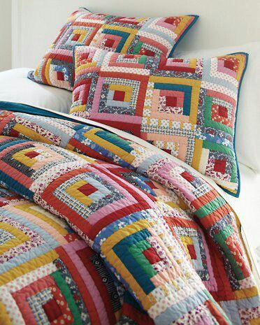 Pin By Maria Cecilia Ruiz Montenegro On Quilting Log Cabin Quilt Quilts Log Cabin Patchwork