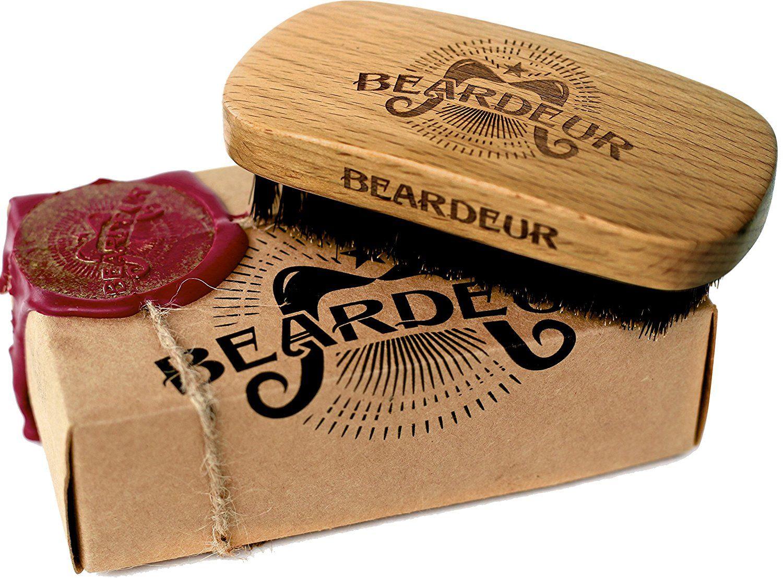 Beard Brush, Best Natural Wooden Hair Brush For Men, 100