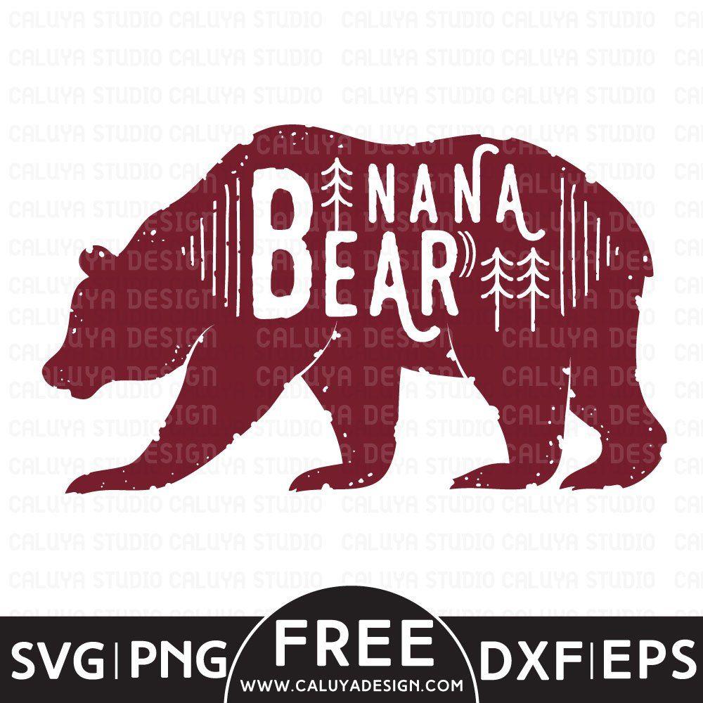 Nana Bear Free SVG, PNG, EPS & DXF Download by