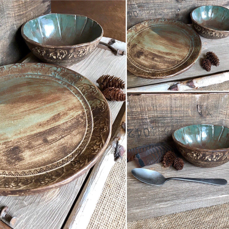 Wild Buffalo Dinnerware Set Including Mug ~ Native American ...