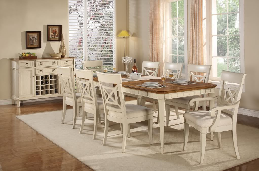 Wynwood French Country Dining Room Furniture Table 6 Chairs Set Fascinating White Dining Room Table And 6 Chairs Inspiration Design