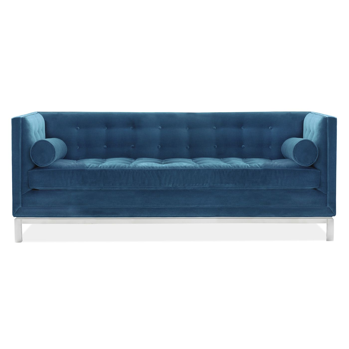 a rich blue hue updates your parlor with our tailored lampert sofa  - a rich blue hue updates your parlor with our tailored lampert sofaupholstered in venice navy · jonathan adlersofa