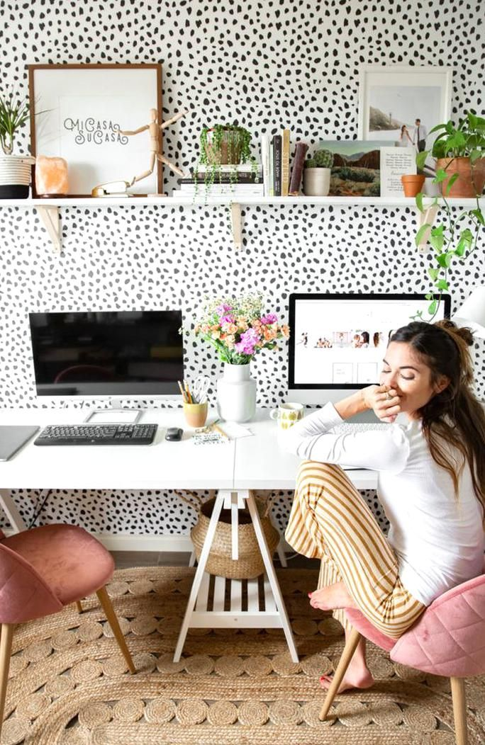 Office Room Design Software: Spotty Home Office Makeover Mary Lauren In 2020