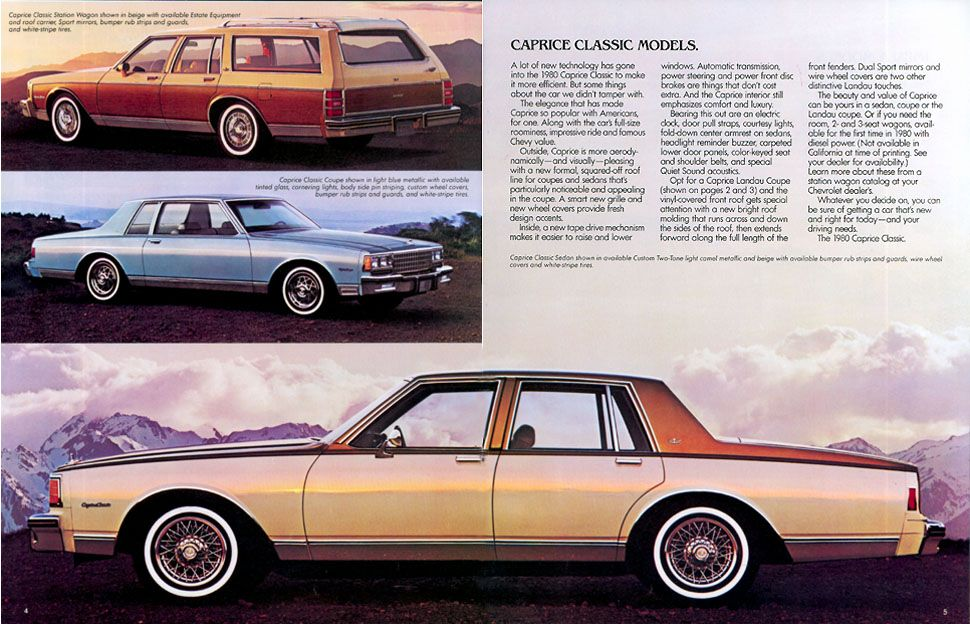 4 Chevy Caprice Another car classified as a boat, the Caprice took ...