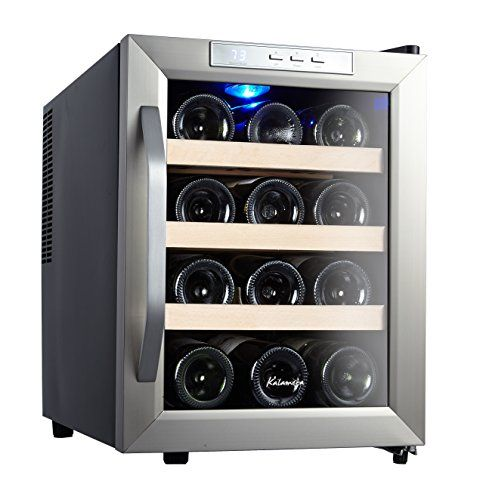 Kalamera 12 Bottle Counter Top Stainless Steel Wine Cooler Hot Wine Shop Thermoelectric Wine Cooler Wine Cooler Wine Refrigerator