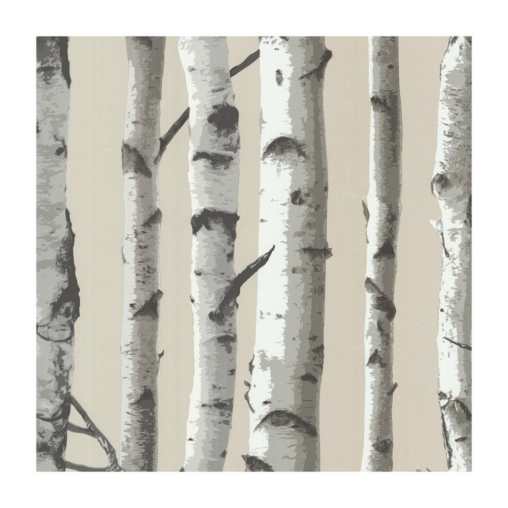 Shop Provincial Wallcoverings 253220418 Irvin Grey Birch Tree Wallpaper At  Lowe's Canada Find