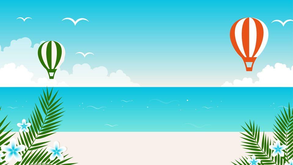 Minimalistichnyj Multfilm Morskoj Plyazh Fonovoj Illyustracii Latar Belakang Ilustrasi Pantai