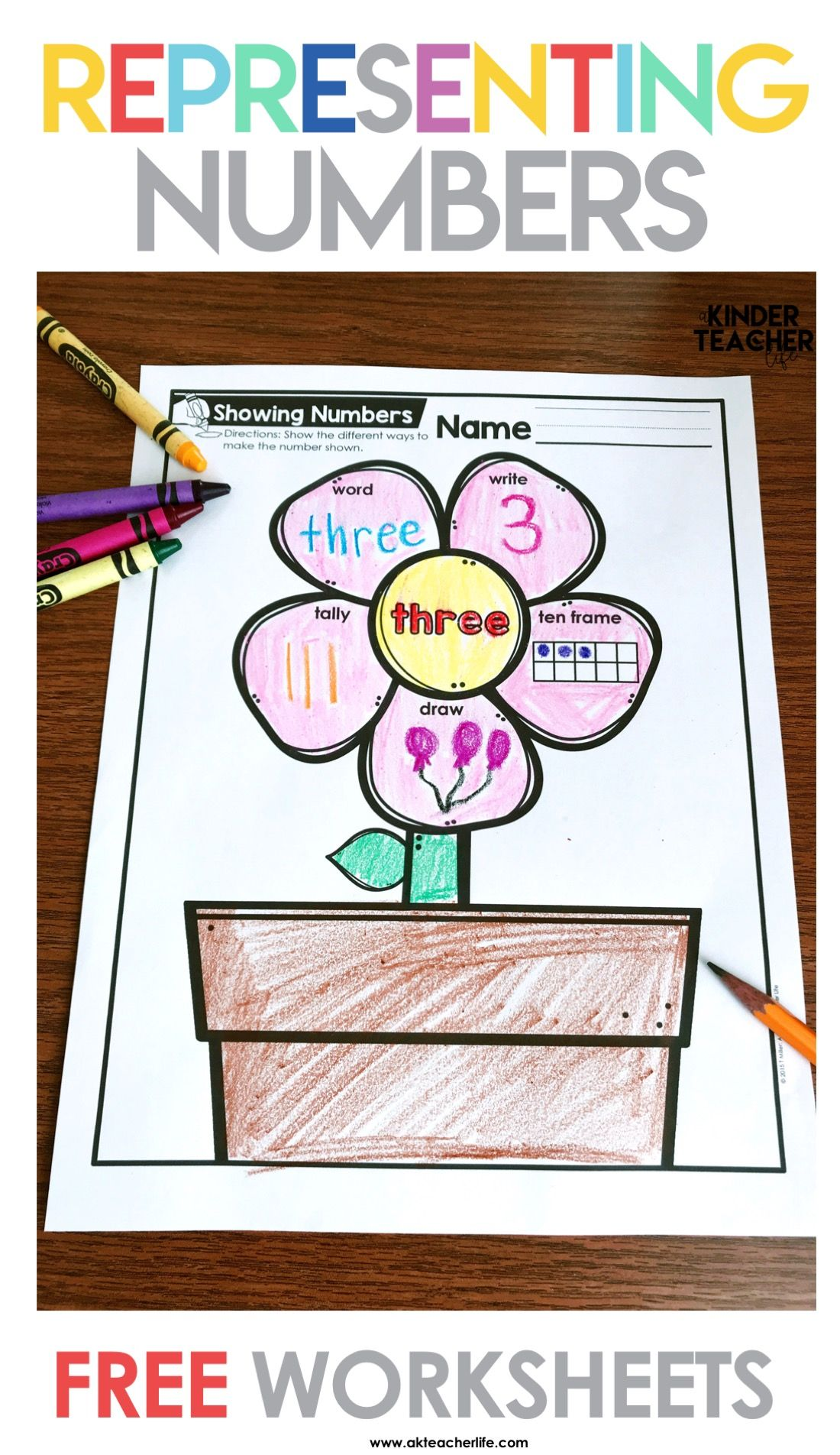 Different Ways To Show A Number 1 10 Math Flower Power