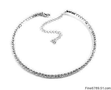 57% Off was $70.00, now is $29.95! 1-Row Rhinestone Collar Choker Prom Bridesmaid Wedding Necklace + Free Shipping