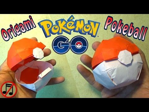 Origami Pokeball That Opens No Music