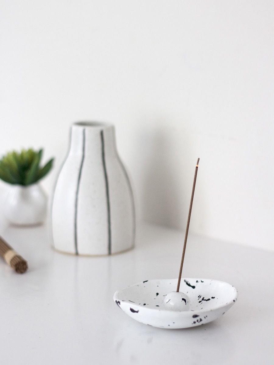 make this: diy incense holder, plus the lowdown on aromatherapy