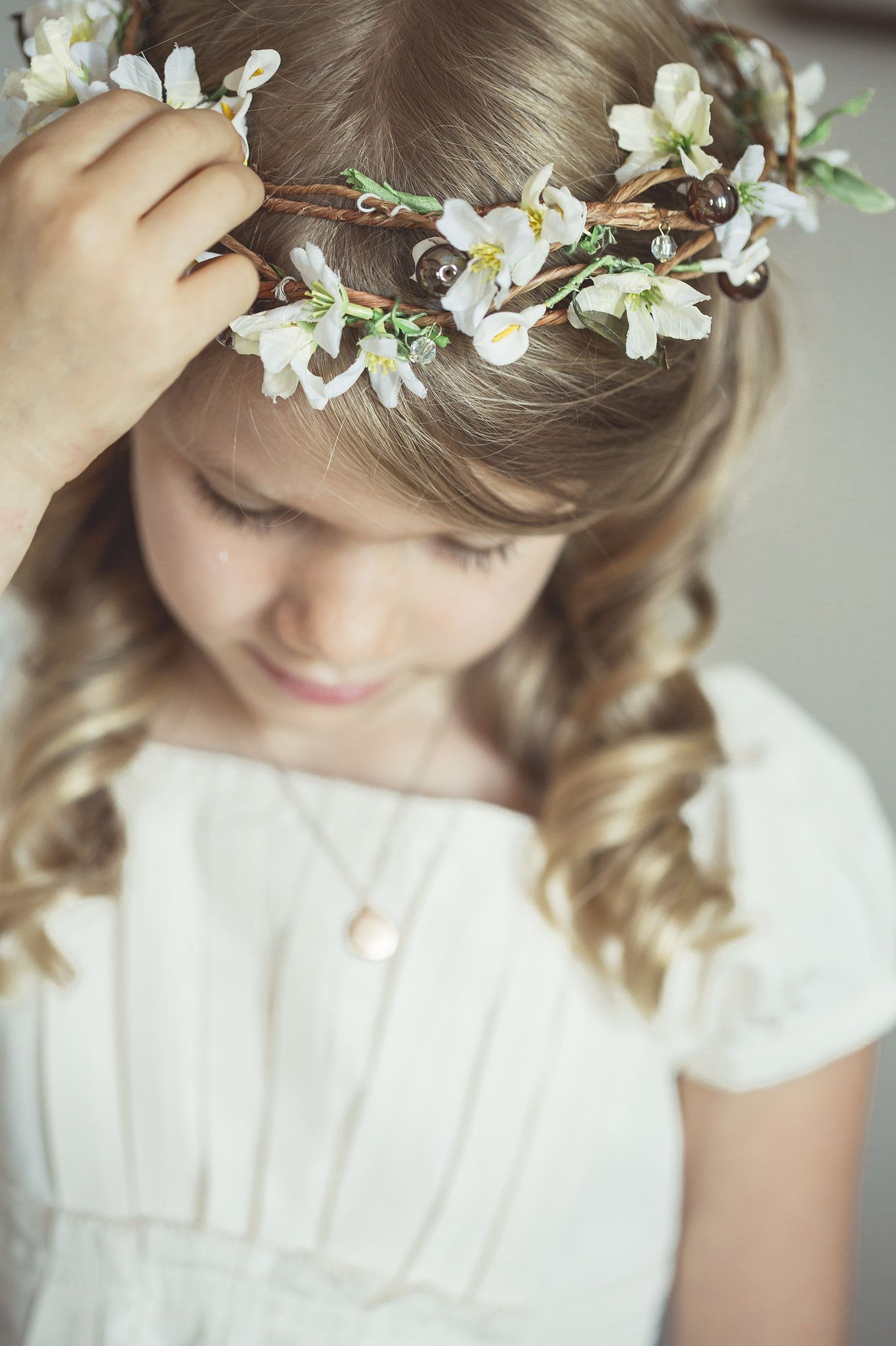 Photo by bonnallie brodeur photographe floral crown flower and pretty floral crown for the flower girl izmirmasajfo