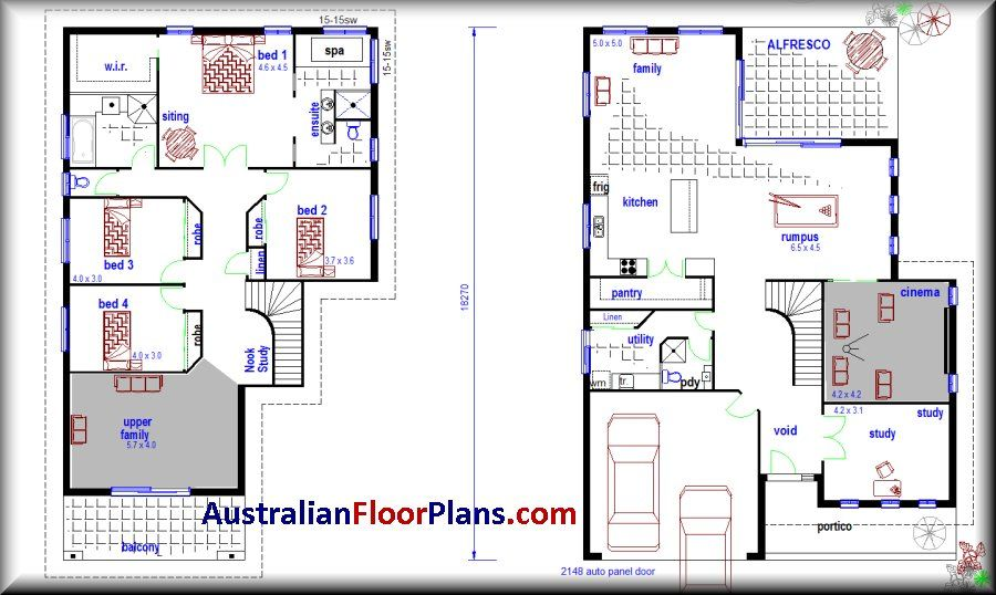 2 storey house designs and floor plans google search for Townhouse building plans