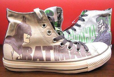 6e8d1f1c368e New Converse All Star DC Comics Batman HAHAHA Joker Chuck Taylor HI Grey  Shoes
