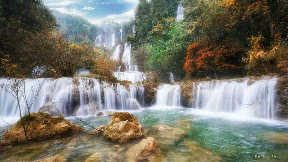 Huai Mae Khamin Waterfall Is One Of Most Beautiful Waterfalls In Thailand 4k Stock Fooe