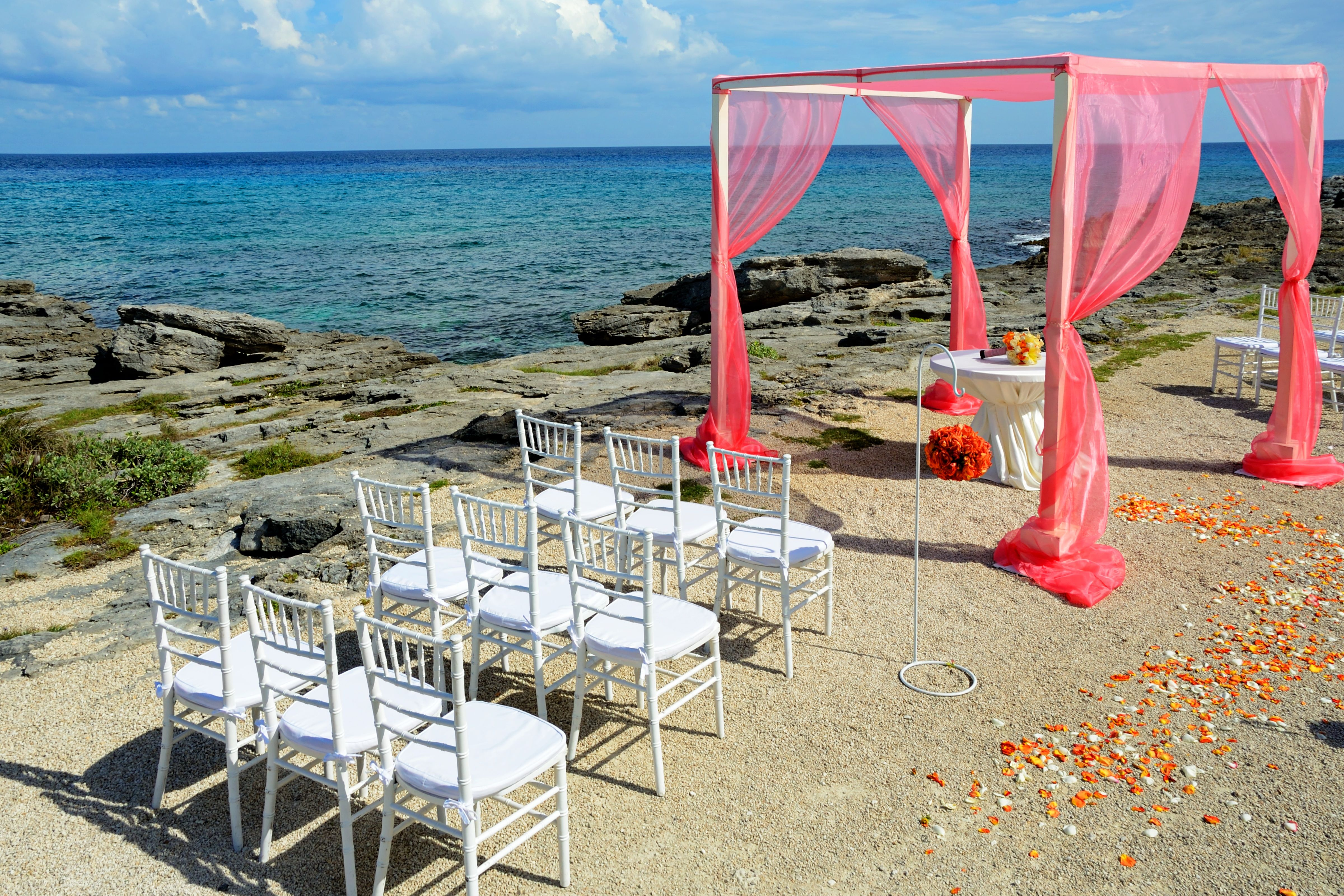 Cora Mist  Wedding Setup at Occidental Grand Xcaret