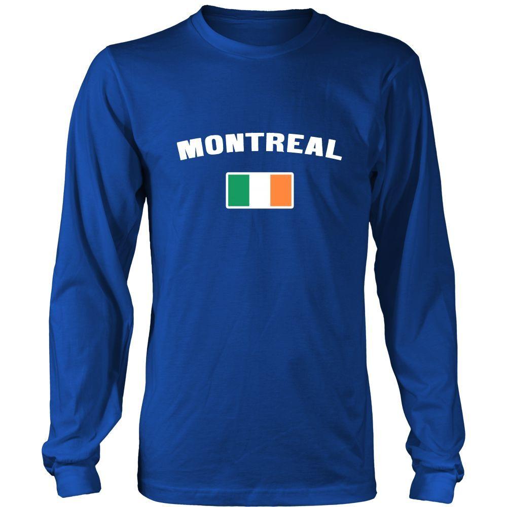"Saint Patrick's Day - "" Montreal Canada Irish Flag "" - custom made apparel."