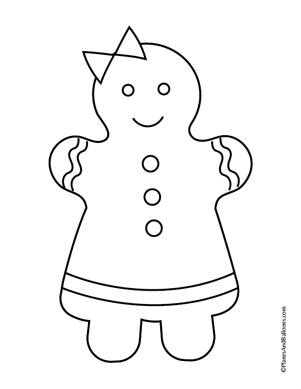 Free printable gingerbread house coloring pages for the